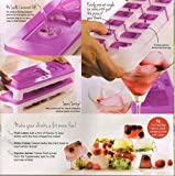 x tupperware lid - 2 X Tupperware Pure & Fresh Unique Covered Cool Cubes Ice Tray in Purple With Opening Lid Contain 14 Cubes - HerbalStore_24*7