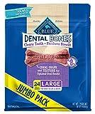 Blue Buffalo Dental Bones Natural Adult Dental Chew Dog Treat Large 36-oz Bag