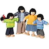 CP Toys 4 pc. Wooden Posable Asian Doll Family