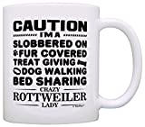 Best ThisWear Wife And Mom Coffee Mugs - Dog Lover Gifts for Women Crazy Rottweiler Lady Review