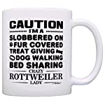 Dog Lover Gifts for Women Crazy Rottweiler Lady Dog Mom Dog Owner Gift Coffee Mug Tea Cup White 6