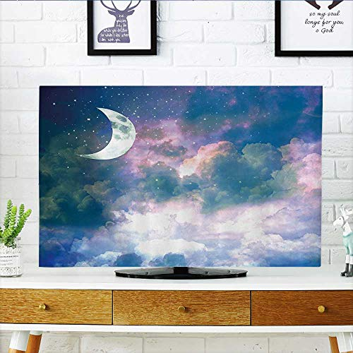 L-QN Protect Your TV Cret Mo Sky Starry Cloudspace Celestial Solar Orbit Double Exposure Protect Your TV W35 x H55 INCH/TV 60