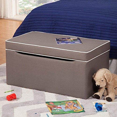 Kinfine Toy Box Bench - Grey/White