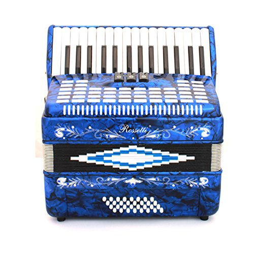 Rossetti Piano Accordion 32 Bass 30 Piano Keys 3 Switches Blue by Rossetti (Image #5)