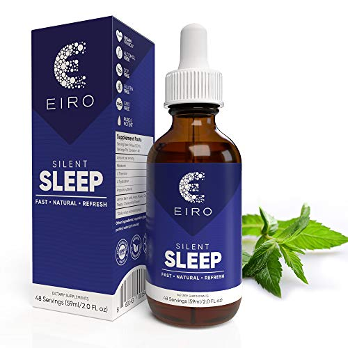 EIRO Silent Sleep │ ­All Natural liquid Sleep Aid Remedy, with Melatonin, L-Theanine, Chamomile flower & more │ Superior Absorption │ Fast • Natural • Refresh