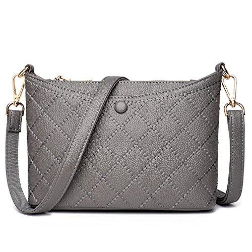 Messenger Fashion Diagonal Shopping Handbag Casual Lightgrey Bag Bag Travel q7ZEwT7xR