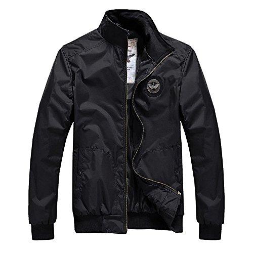 【Goodgoods】ジャケット メンズ ミリタリージャケット ブルゾン メンズジャケット アウター 008-1211-lxz(XL ブラック )