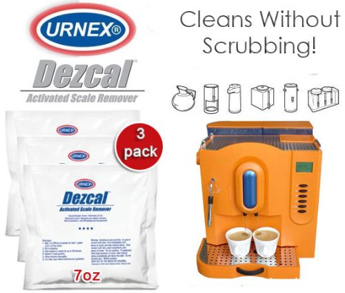 Urnex Dezcal Activated Scale Remover 3 Pack - 7oz packet