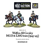 Warlord Games WGB-LSS-14, Waffen SS Cavalry NCO & LMG 1942-45, 28mm Bolt Action Wargaming Miniatures
