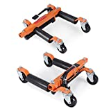 ARKSEN 9'' Vehicle Positioning Hydraulic Jacks, Tire Dolly, 4-PC