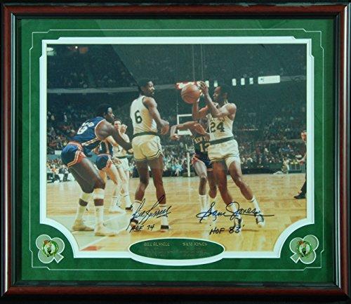 (Bill Russell & Sam Jones Signed 16x20 Framed Photo (PSA/DNA))