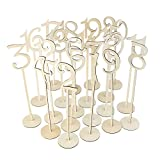 20PCS Number 1-20 Seat Card Wedding Banquet Number Place Holder Decoration Wedding Party Supplies