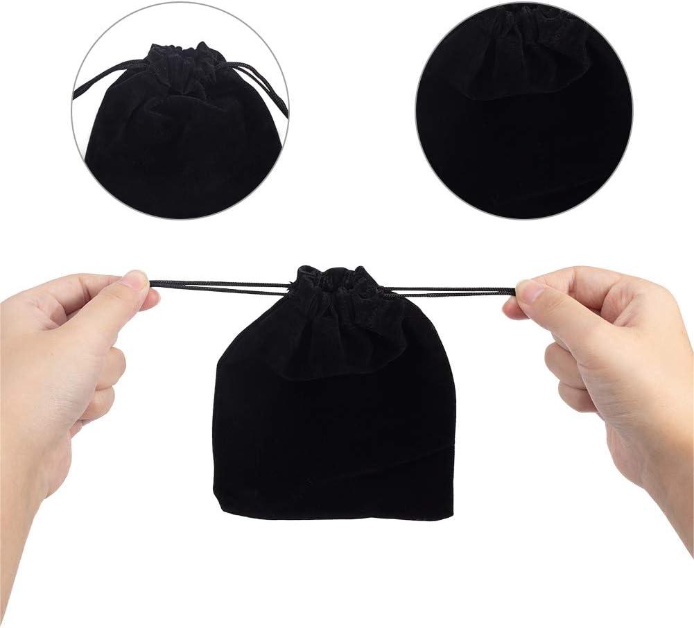 15/x 12/cm rectangulaire Noir nbeads 250 Pcs Cordon de Serrage en Velours /à drag/ées pour f/ête de Mariage Sacs de Cadeau Pochettes Bijoux Pouch