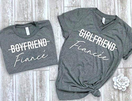 cute fiance shirt fiance matching tees couple shirts matching couple tees engagement gift idea]()