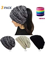 30555200c9e Jual BUUFAN Chic Winter Beanie Outerdoor Hat Scarf Set Warm Knit Hat ...