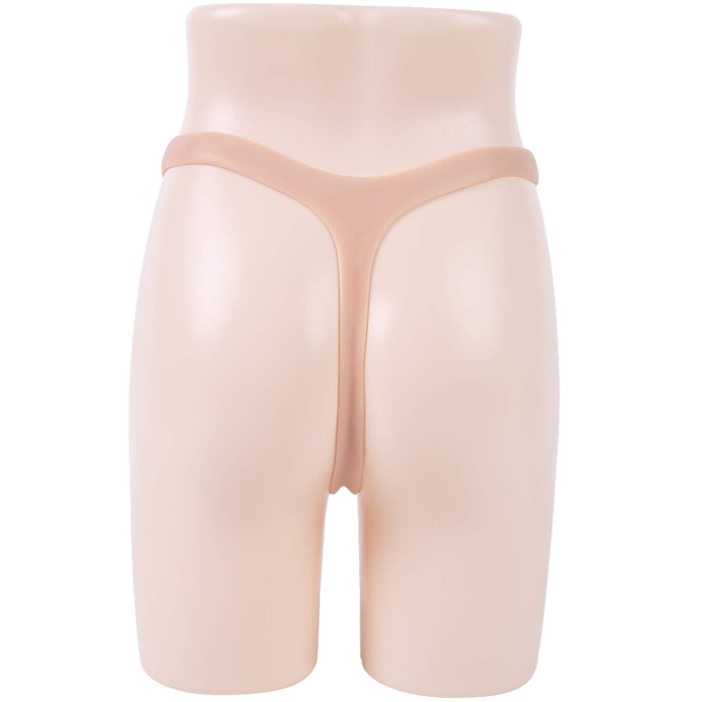 IVITA Crossdresser Panties Men Hiding Gaff Silicone Camel Toe Thong for Transvestites