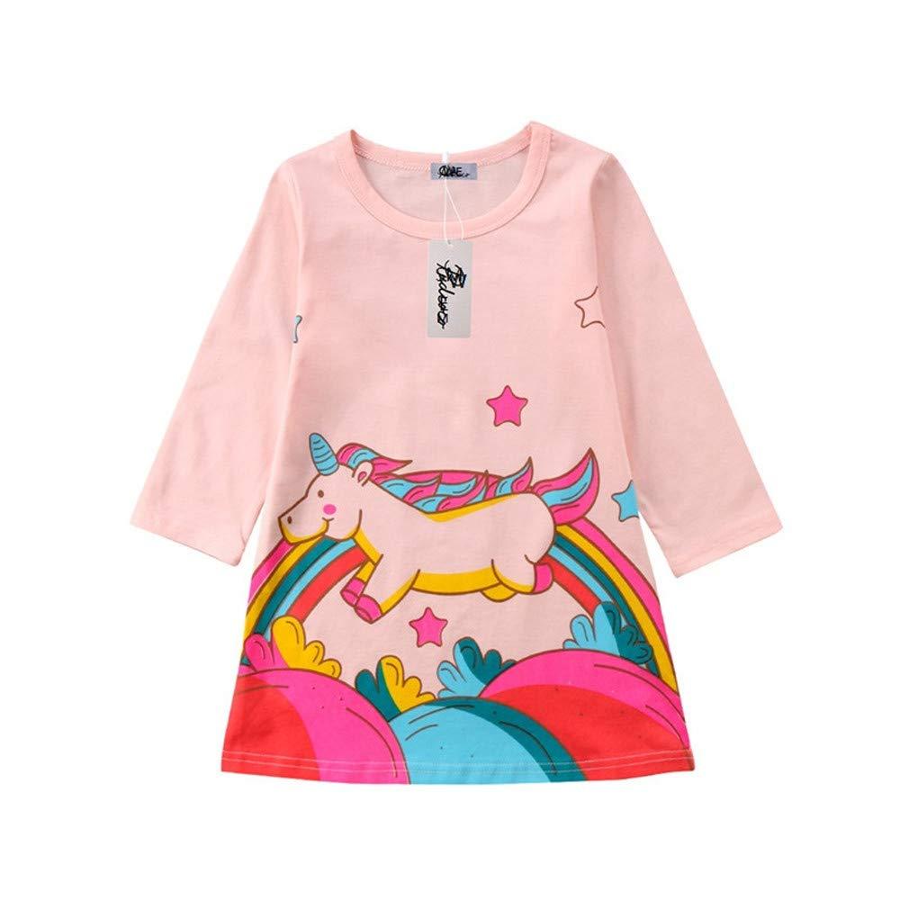 Wang-RX Otoño Casual Kids Baby Girl Dress Vestidos de Fiesta ...