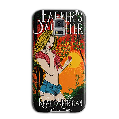 Farmer Daughter Cute Hard Girl New Black 3D Samsung Galaxy S5 Case   Wellcoda
