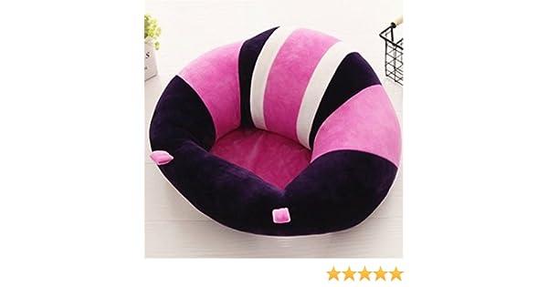 51fe06c70 Colorido lindo asiento de apoyo para bebé, asiento para aprender a sentarse,  cojín suave para silla, sofá, almohada de felpa, juguetes morado:  Amazon.es: ...