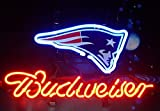 Desung Brand New 14''x10'' B udweiser Sports Team NE-Patriots Neon Sign (Various Sizes) Beer Bar Pub Man Cave Glass Neon Light Lamp BW93