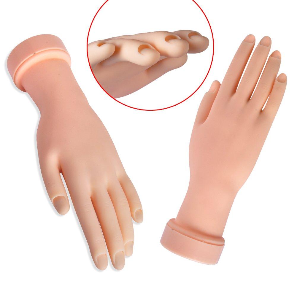 biutee Gemälde Praxis Werkzeug verstellbar Nail Art Modell Fake Hand für Training und Display TOOL-BB-917