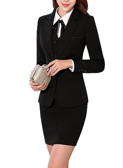 fed4b102c2985 SK Studio Women's Two Piece Busniess Uniform Pants Skirt Jacket ...