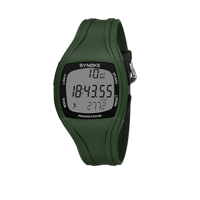 JIUZHOU Sportuhr Kalorien Schrittzähler Chronograph Outdoor Uhren 50m Wasserdicht