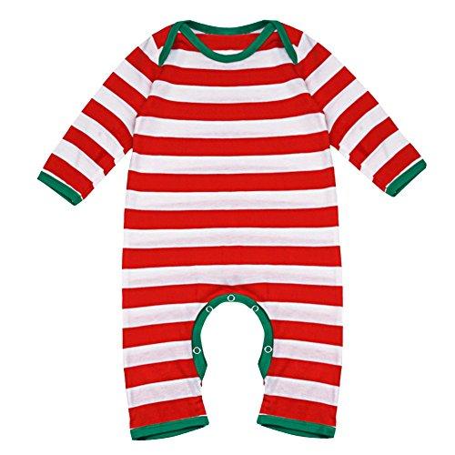 f18bec708 YIZYIF Mameluco Unisex Bebé Niños Manga Larga Navidad Rayada para 3-18 Meses  Barato