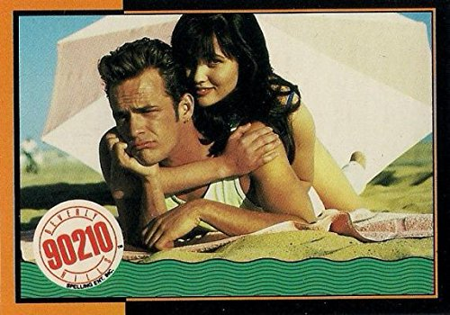 Shannen Doherty and Luke Perry trading card (Beverly Hills 90210) 1991 Topps #35 Autograph Warehouse