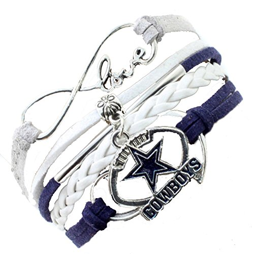 NFL Dallas Cowboys Rugby Team Multi-layer Woven Bracelet Drip Bracelet Leather Nfl Bracelets