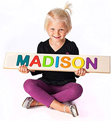 Amazoncom Fat Brain Childs Personalized Name Puzzleup To 9