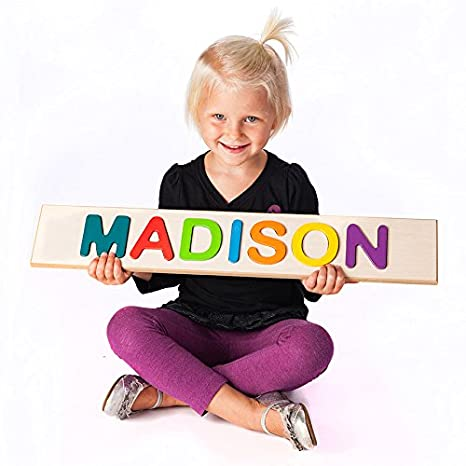 Amazon fat brain childs personalized name puzzle up to 9 fat brain childs personalized name puzzle up to 9 letters negle Images