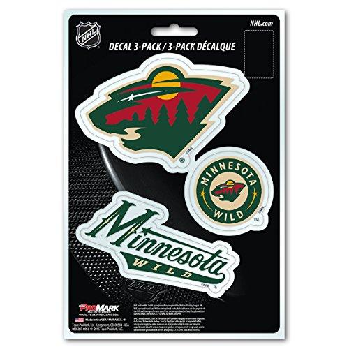 Nhl Minnesota Wild Team Decal  3 Pack