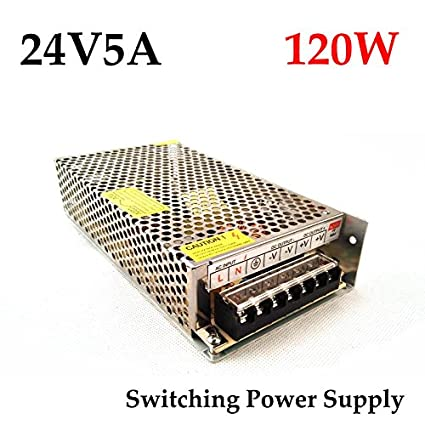 NIRMALS 24V 5Amp DC SMPS POWER SUPPLY For LED Strip Light, CAMERAS 24V 5A  (24v 5a)