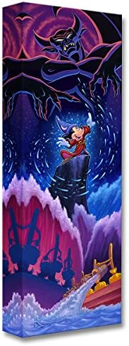 Disney Fine Art Triumph of Imagination 24″ x 8″ Treasures on Canvas Fantasia Mickey Mouse Gallery Wrapped Canvas by Tim Rogerson