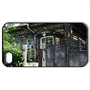 R u s s i a - Case Cover for iPhone 4 and 4s (Houses Series, Watercolor style, Black)