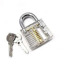 MICG Cutaway Transparent Practice Padlock Kit Locksmith Trainer Skill Locks Set Pack of 3