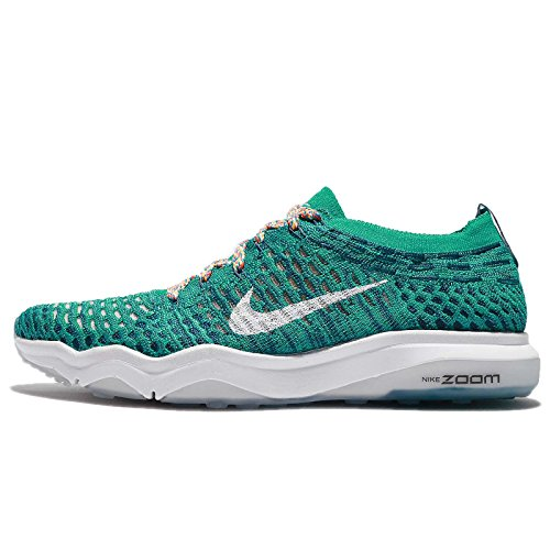 NIKE Women's W Air Zoom Fearless FK City, Clear Jade/White-Legion Blue, 6 US