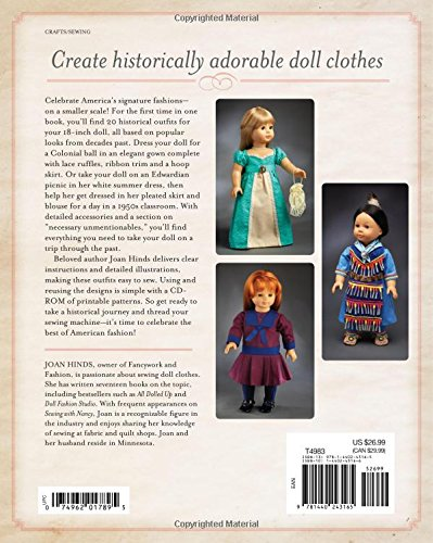 From Fons /& Porter NEW HERITAGE DOLL CLOTHES FOR 18 INCH DOLLS SOFTCOVER BOOK