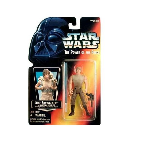 (Star Wars: Power of the Force Red Card Luke Skywalker in Dagobah Fatigues with Long Lightsaber Action Figure)