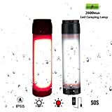 SUNBLESA 2 in 1 Waterproof LED Camping Lantern Flashlight Small Tent Night Light 7 modes Work Lamp Rechargeable Emergency Lights Torch USB battery Operated Home Outdoor Power Outage