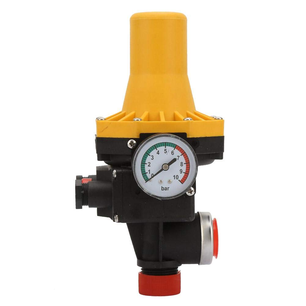 Automatic Pressure Adjustment Water Pump Switch Controller 110-120V 220~240V 10Bar for Self-Priming Pump, Jet Pump, Garden Pump, Clean Water Pump by Vikye
