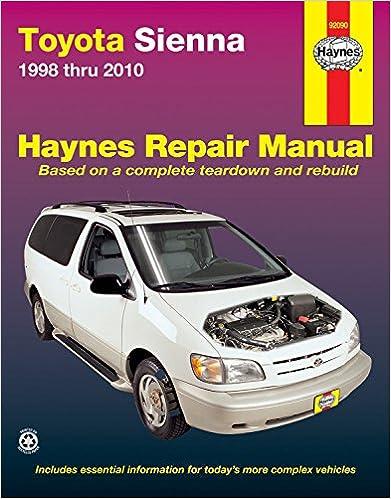 Toyota sienna 1998 thru 2010 all models haynes automotive repair toyota sienna 1998 thru 2010 all models haynes automotive repair manual 1st edition fandeluxe Images