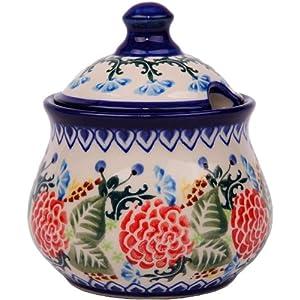 Polish Pottery Ceramika Boleslawiec 0051/280 Sugar Bowl Iza, 1-Cup