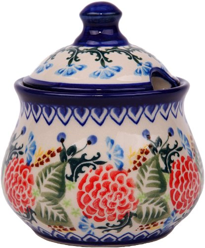 (Polish Pottery Ceramika Boleslawiec 0051/280 Sugar Bowl Iza, 1-Cup)