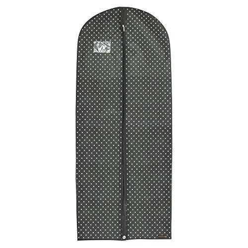 ATMUNGSAKTIVER KLEIDERSACK/KLEIDERSCHUTZHÜLLE - SCHWARZ-GETUPFT - für jede Kleidung mit den Maßen: Länge ca. 150 cm x Breite ca. 61 cm