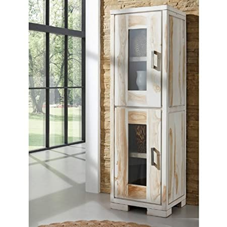 mobel wolf mabel glass cabinet made from solid shisham in marble look 2 doors vision lemgo offnungszeiten