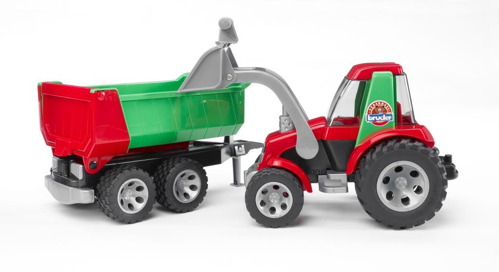 tracteur roadmax avec fourche et remorque