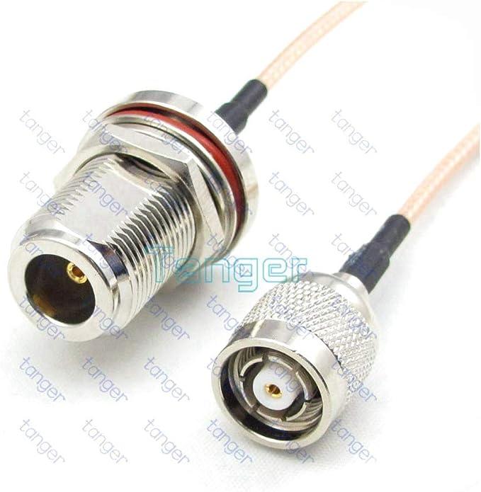 LUFASA RF - Cable coaxial de 15 cm con Tuerca RP-TNC Macho a N ...