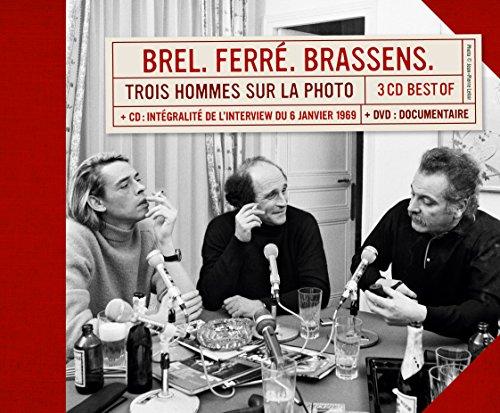 e9a72911677b75 Trois Hommes Sur la Photo - Coffret Luxe 4CD+DVD Digisleeve  Georges  Brassens, Jacques Brel  Amazon.fr  Musique